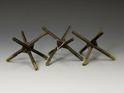 """King & Country Wwii Wh030  """"Beach Obstacles""""  Normandy 1944 Set Of Three...mib!"""