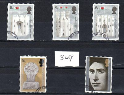 A set of Queen Elizabeth II stamps, issued 01 July, 1969,#349.