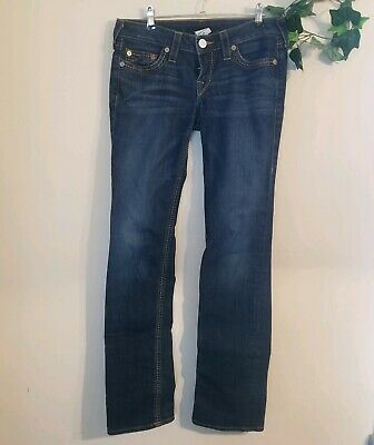 a23caca61 TRUE RELIGION WOMENS Jeans Billy Super T Straight Leg Sz 28 Real fit ...