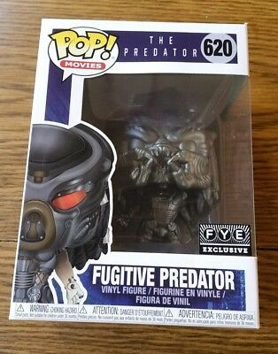 Funko Pop Fugitive Predator FYE black chrome gun metal 2018