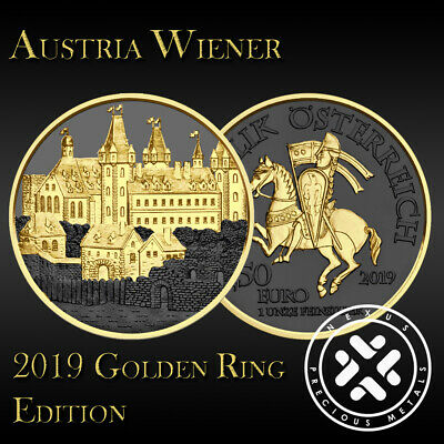 Austria 2019 Wiener Neustadt 825th Anniv Silver 9999 1oz Golden Ring Edition