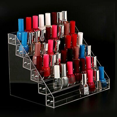 Acrylic Nail Polish Rack Cosmetic Varnish Display Stand Holder Manicure Tool F2