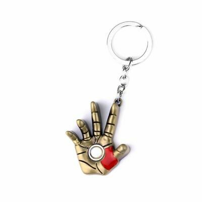 Avengers Iron Man Hand Keychain Metal Superhero Keyring Key Holder