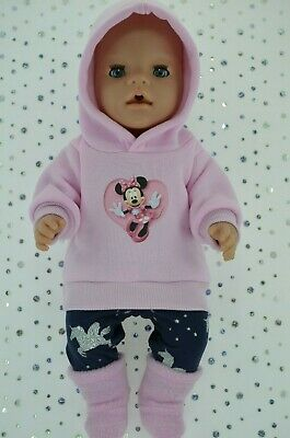"""Play n Wear Doll Clothes To Fit 17"""" Baby Born PINK HOODIE~LEGGINGS~BOOTS"""