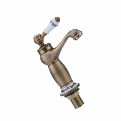 Vintage Single Lever Faucet Household Hot Cold Water Tap Kitchen Sink Faucet T0