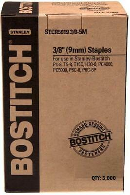 Bostitch Staples STCR5019 3/8 9mm 5000/Box 1, 2 or 3 Packs - suit T5-8 Tacker