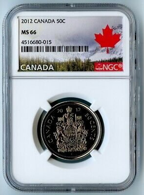 2012 Canada Ngc Ms66 Coat Of Arms 50 Cent 50C! Only 14 Exist In Ms66!