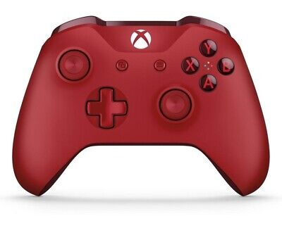Microsoft Official 1708 Xbox One Wireless Game Console Controller 3.5mm Red