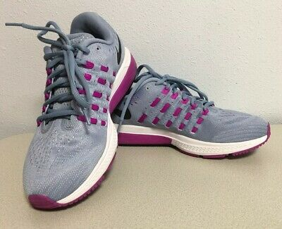62034f0ab8652 Nike Women s Air Zoom Vomero 818100-405 Blue Gray purple Running Shoes Size  8.5