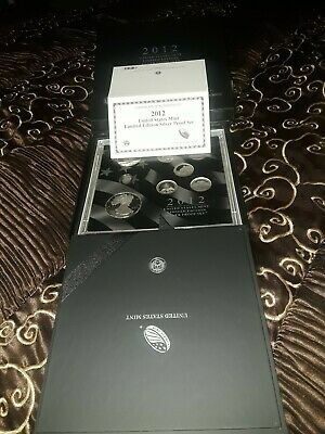 2012 United States Mint Limited Edition Silver Proof Set -Original Boxes & COA