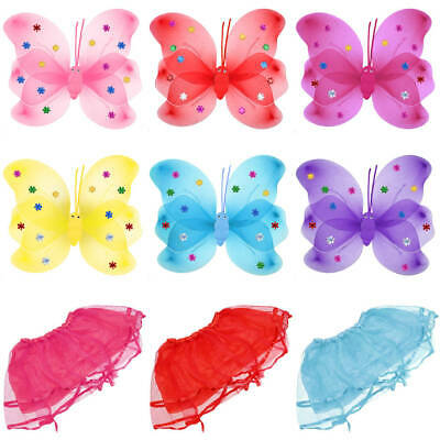 Butterfly Fairy Wings for Girls Fancy Dress Dressing Up Costume Party Role Play