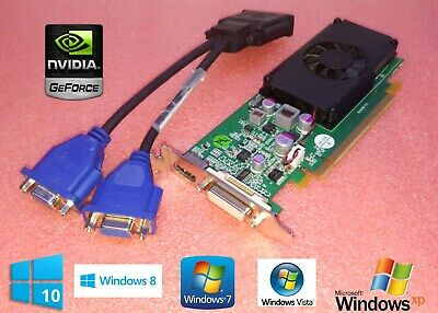 DELL OPTIPLEX 745 755 SFF Video Card XX355 w/ Cable for DMS-59 To