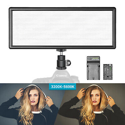 Super Slim Bi-color Dimmable LED Video Light with 2600mAh Battery and Charger