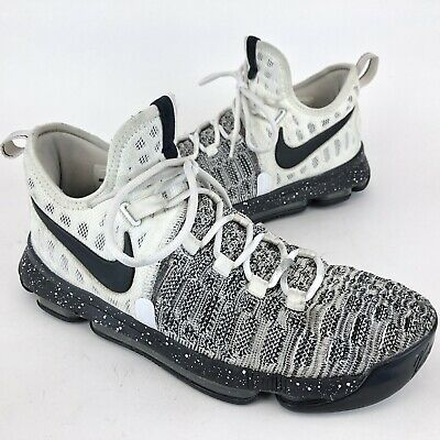 finest selection 5196d a61b4 Nike Zoom KD 9 IX Oreo 843392-100 Black White Kevin Durant Mens Size 9