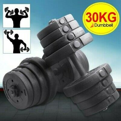 2X Dumbbell Set Weight Gym Workout Biceps Triceps Free Weights Training 30KG