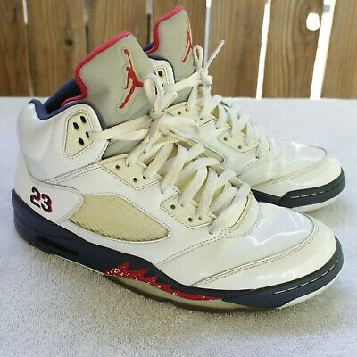 4ab8d0a6d986cf Nike Air Jordan 5 V Retro Independence Day Size 11 USA Olympic 136027 103