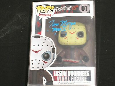TOM MORGA Signed JASON Voorhees Funko Pop Autograph Friday the 13th Part V