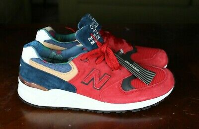 quality design 7317c 48c1d NEW BALANCE 999 Made In Usa Sz 12 Men Red Really Red Navy Blue White Tan  M999Web