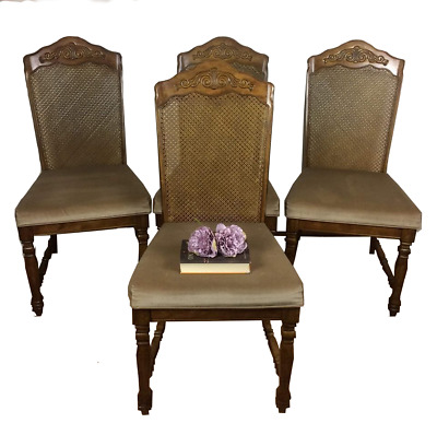 Set of 4 Antique Victorian Mahogany Dining Chairs ORIGINAL FROM SINGAPORE