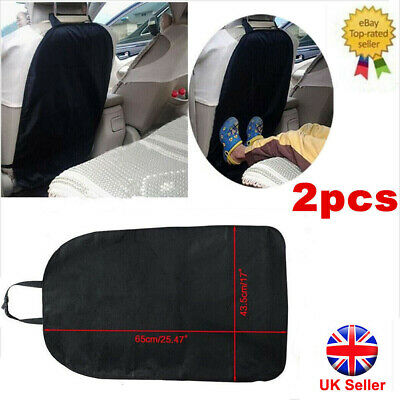Car Seat Back Protector Baby Cover for Children Kids Black Kick Mat Pad Protects