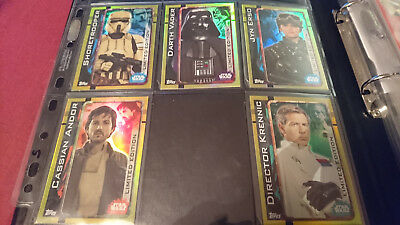 Topps Star Wars Rogue One  Cards Uk Ltd Limited Edition Set