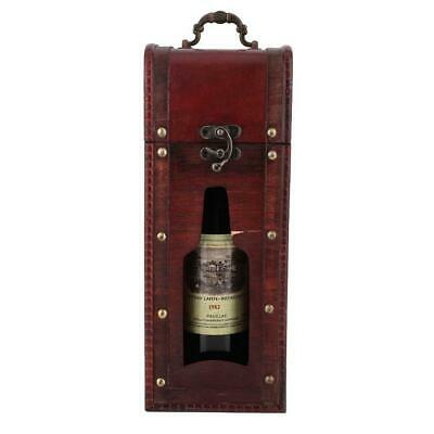 Vintage Red Wine Box Portable Gift Wood Wine Storage Box Single Bottle Packages