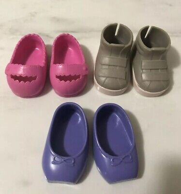 Our Generation Dolls SHOES x 3 Pairs