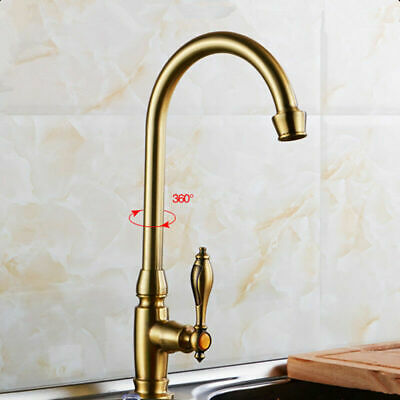 Kitchen High quality Antique Bronze Brushed Faucet Single Cold Water Faucet Tap