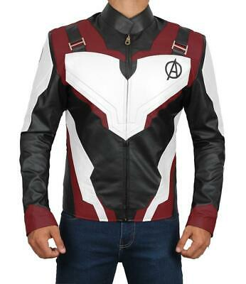 Iron Man Robert Downey Jr. Avengers Endgame Quantum Leather Jacket