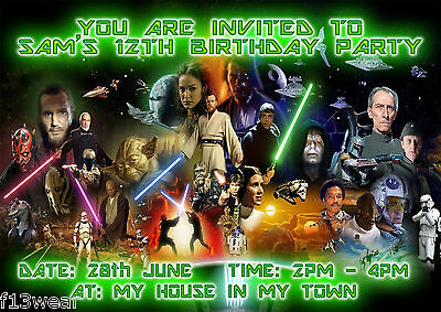 Star Wars Movie Invitations Personalised Birthday Party A6
