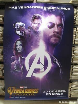 "AVENGERS INFINITY WAR 79"" x 55"" Giant Movie Theater Vinyl Banner Thor GOTG"