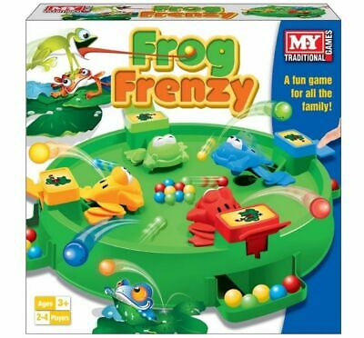 M.Y Traditional Frog Frenzy Board Game Children Kids Family Fun Game Toy Gift