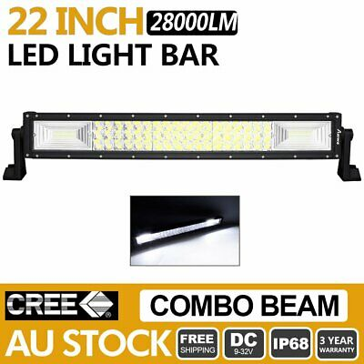 22 inch Led Light Bar 280W Spot Flood Work Driving Lamp OFFROAD JEEP 4WD SUV 22""