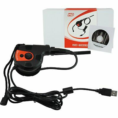 USB 6 LED Video Inspection HD Camera Flexible Tape Style Endoscope Borescope