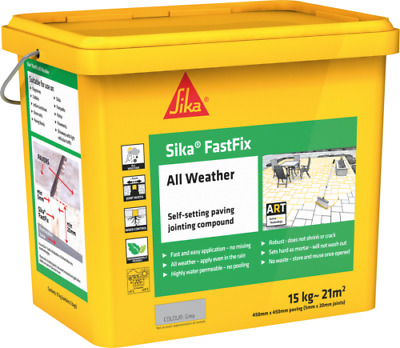 Sika Fast Fix All Weather   Self Setting Jointing Compound   14kg GREY FastFix