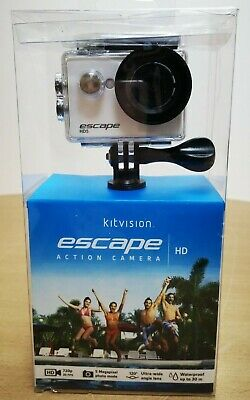 Kitvision Escape HD5 HD 720p Action Camera Waterproof 2 in - White - UK Seller