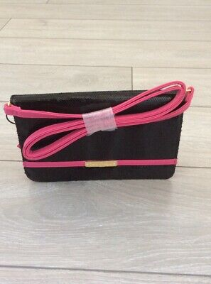 JUICY COUTURE Black/Pink Smalll Sequined Cross Body Bag