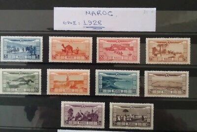 Morocco French Maroc 1928 Pro 10 Val Mlh