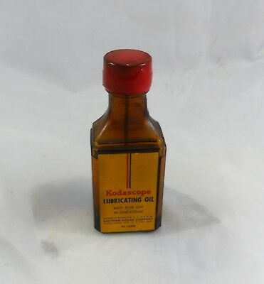 Vintage Amber Bottle Kodascope Oil Approx 3/4 full  Partial Wax seal on top