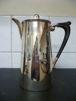 AN ANTIQUE, SWIVEL LID DESIGN, SILVER PLATED CHOCOLATE POT By 'WILLIAM SUCKLING'