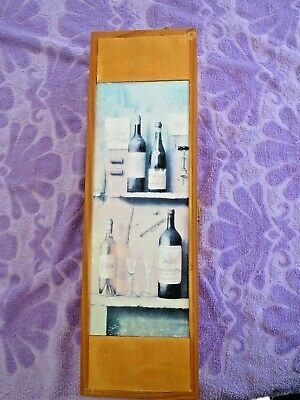 Single Bottle Wood Wine Box Carrier With Rope Handle