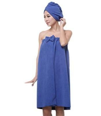 Women's Microfiber Sarong Towel  & Hair Turban Set , Swimming Wrap, Sauna, Spa