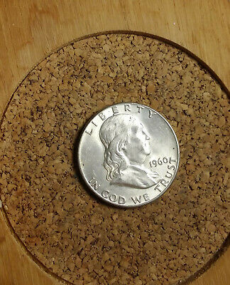 """1960 P Franklin Half Dollar 90 % Silver US Coin  """"TUCK"""" FH1915 FREE SHIPPING"""