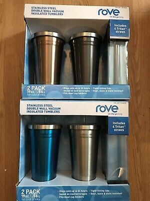 d9991712c0c ROVE STAINLESS STEEL Double Wall Vacuum Insulated Tumblers 2 Pack