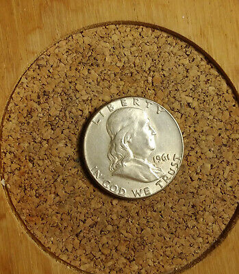 """1961 P Franklin Half Dollar 90 % Silver US Coin """"TUCK"""" FH1912 FREE FAST SHIPPING"""
