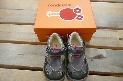 Rondinella Grey & Red Star Rip Tape Open Shoe - SALE - Eur 20 UK 4