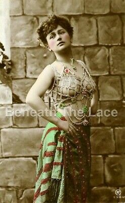 VINTAGE EROTIC 6x4 OLD RISQUE PRINT PHOTO POSTCARD NUDE NAKED BURLESQUE DANCER