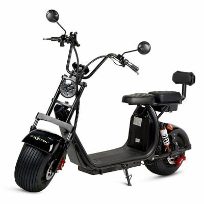 Moto electrica scooter de 1500w bateria 12Ah 60v chopper CityCoco color negra