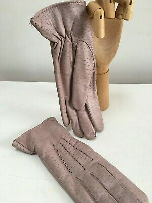 MORLEY Vintage LADIES soft pink leather gloves   Size 7.5