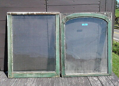 Pair Antique Architectural FARM HOUSE WINDOWS 2 Pane Sash Primitive 1880s Lot A